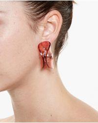 J.W.Anderson - Red Folded Perspex Earrings - Lyst