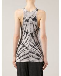 fdca64e5c3a20b Lyst - Raquel Allegra Tie Dye Print Tank Top in Black