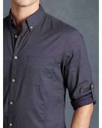 John Varvatos | Purple Cotton Abstract Rolled Sleeve Shirt for Men | Lyst