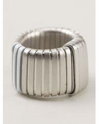 MM6 by Maison Martin Margiela - Metallic Ring - Lyst