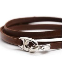 Miansai | Bind Brown Leather Bracelet for Men | Lyst