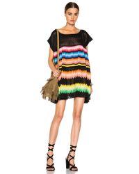 Missoni - Black Striped Mini Dress - Lyst
