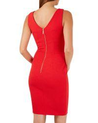 Closet - V Back Textured Dress - Lyst
