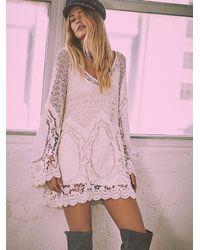 Free People | White Nikki Amore Dress | Lyst