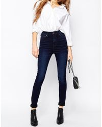 Dr. Denim | Blue Zoe Sky High Waist Skinny Jean | Lyst