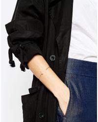ASOS | Brown Limited Edition Topaz Fine Open Wire Bracelet | Lyst