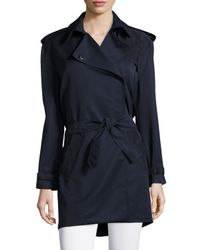 Risto - Blue Long-sleeve Combo Trench Coat - Lyst