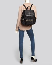 Tory Burch - Black Backpack Billy Stacked T Logo - Lyst