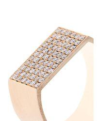DINA KAMAL DK01 - Metallic Diamond & Beige-Gold Id Ring - Lyst