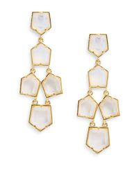 Lele Sadoughi | Metallic Celestial Galaxy 14k Goldplated Prism Chandelier Earrings | Lyst