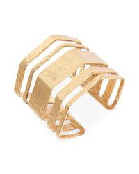 Lucky Brand - Metallic Goldtone Open Statement Cuff Bracelet - Lyst