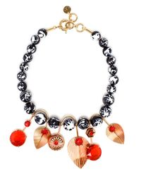 Valentina Brugnatelli | Multicolor Tatiana Swarovksi And Enamel Necklace | Lyst