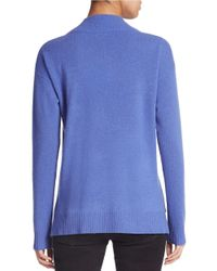 Lord & Taylor | Blue Cashmere Cowlneck Sweater | Lyst