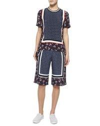 Mother Of Pearl - Purple Kidd Border-print Silk Shorts for Men - Lyst