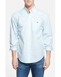 Vineyard Vines - Blue 'tucker - Tiverton Check' Classic Fit Sport Shirt for Men - Lyst