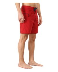 Patagonia - Red Minimalist Wavefarer Board Shorts for Men - Lyst