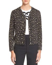 Marc By Marc Jacobs | Metallic Leopard Jacquard Cardigan | Lyst
