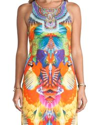 Camilla | Multicolor Mid Length Sleeveless Dress in Orange | Lyst