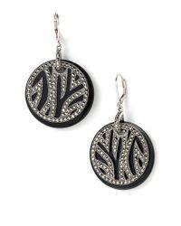 Judith Jack | Black 'animal Kingdom' Zebra Earrings | Lyst