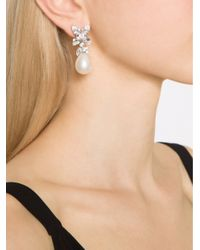 Fantasia Jewelry | White Cluster Pearl Earrings | Lyst