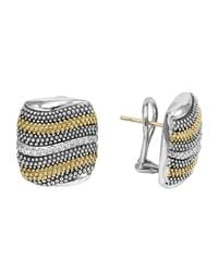 Lagos - Metallic Soiree Diamond Caviar Wave Earrings - Lyst