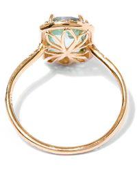 Suzanne Kalan | Metallic Gold Barrel Green Envy Topaz Ring | Lyst