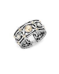 John Hardy | Metallic Palu 18k Yellow Gold & Sterling Silver Band Ring | Lyst