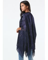 Bebe | Blue Velvet Burnout Cover Up | Lyst