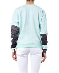 MSGM | Blue Lipstick Print Cotton Sweatshirt | Lyst