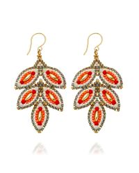 Miguel Ases - Red Opalite Cherry Earrings - Lyst