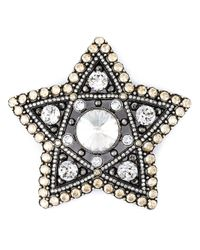 Lanvin | Metallic Crystal Embellished Star Brooch | Lyst