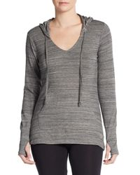 Balance Collection | Gray Striped Thumbhole Hoodie | Lyst
