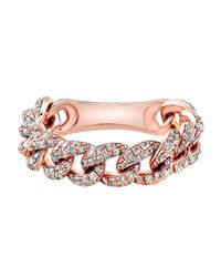Anne Sisteron - Pink 14kt Rose Gold Diamond Baguette Paris Ring - Lyst