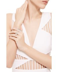 Joelle Jewellery - Metallic Antique White Double Ring - Lyst