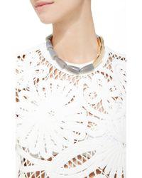 Vhernier - Gray Calla Grey Agate Rose Gold Necklace - Lyst