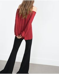 Zara | Purple Off-the-shoulder Top | Lyst