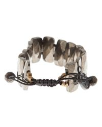 Joseph Brooks - Metallic Pyrite Double Drille Bracelet for Men - Lyst