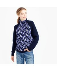 J.Crew | Blue Collection Cashmere Turtleneck Sweater In Mosaic | Lyst