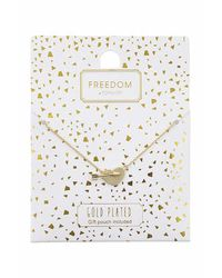 TOPSHOP - Metallic Gold Plated Heart And Arrow Necklace - Lyst