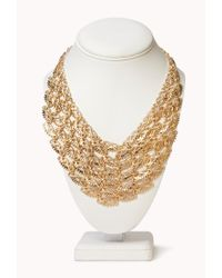 Forever 21 - Metallic Classic Pointed Bib Necklace - Lyst