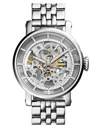 Fossil | Metallic 'original Boyfriend' Skeleton Dial Automatic Bracelet Watch | Lyst