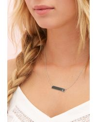 Forever 21 | Metallic Adorn512 Initial L Bar Necklace | Lyst