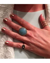 Anne Sisteron - Blue 14kt Yellow Gold Amazonite Diamond Cocktail Ring - Lyst