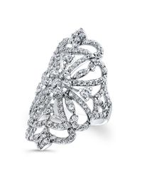 Anne Sisteron | Metallic 18kt White Gold Diamond Reine Ring | Lyst