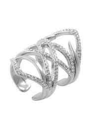 CC SKYE | Metallic The Millionaire Ring | Lyst