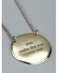 Bjorg - Metallic You Make The Sun Come Out Necklace - Lyst