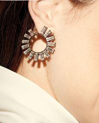 Auden | Metallic Orion Crystal Hoop Earrings | Lyst