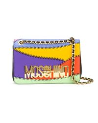 Moschino - Multicolor Logo Panelled Crossbody Bag - Lyst
