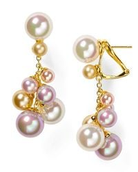 Majorica | White Multicolored Round Organic Manmade Pearl Earrings | Lyst