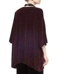 Eskandar - Purple Silk Chenille Bateau-neck Top - Lyst